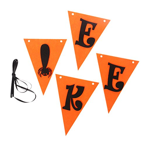 Fogun1 pc Halloween EEK Girlanden Bunting Banner Flagge für Halloween, Haus, Schule, Büro, Party ()