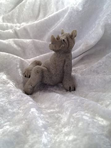 Quarry Critters Ricco the Rhino Shelf Sitter by Quarry Critters
