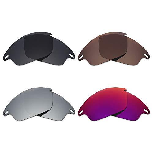 Mryok polarisierte Ersatzgläser für Oakley Fast Jacket Sonnenbrille - Stealth Black/Bronze Brown/Silver Titanium/Midnight Sun