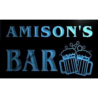 w036917-b AMISON Name Home Bar Pub Beer Mugs Cheers Neon Light Sign Barlicht Neonlicht Lichtwerbung