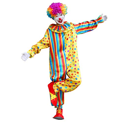 Zoylink Mens Clown Kostüm Partykostüm Kreatives Mehrzweck Cosplay Kostüm