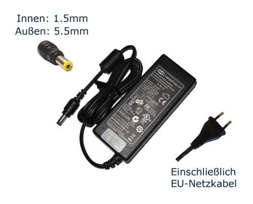 """Preisvergleich Produktbild Netzteil für ACER TRAVELMATE TIMELINE X 8372T / LX.V0603.119 19V 3.42A 65W Notebook Laptop Ladegerät Aufladegerät,  Charger,  AC Adapter,  Stromversorgung kompatibles Ersatz (Einschließlich kostenlosem EU-Netzkabel) - """"Laptop Power"""" gebrandmarkt"""