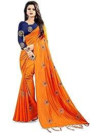 Globalia Creation Women's Silk Saree With Blouse Piece