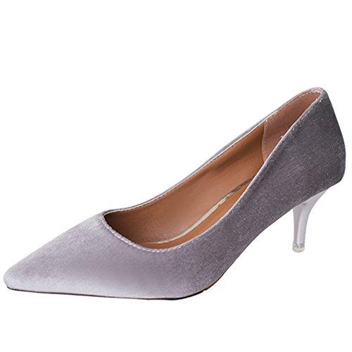 Fashion Lady chaussures printemps point lumineux/chaussures à talon haut stiletto/Chaussures de loisirs B