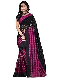 Venu Women Wedding Bhagalpuri Art Cotton Silk Printed Saree For Ladies & Girls (Fancy Bolly Party Wear Silk Checks...