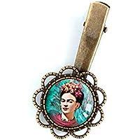 Clip per capelli, Cabochon 18 mm, Frida Khalo, Messico, boho, gitano
