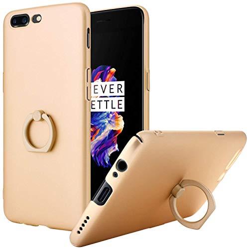 Topnow OnePlus 5 Coque, Rotation Tirer Anneau Stent Fonction Coque Arrière Coque Thin Dur CAS de Téléphone PC Etui pour One Plus 5 Case