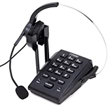 Teléfono Fijo, Coodio Call Center Teléfono con auriculares y cable de la grabación - C666