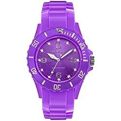 Zeigt Damen mit Swarovski Kristallen Silikon Violett 25