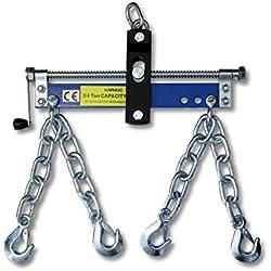WilTec 750kg Balancier pour Grues d'atelier Levage par Chaînes ou Câbles Garage