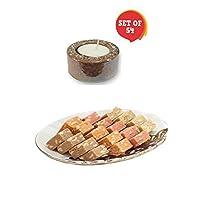 "Giftsmateâ""¢ Diwali Sweets Gift MEWA Bites (1 kg) Pack of 54 Tea Light Candles"