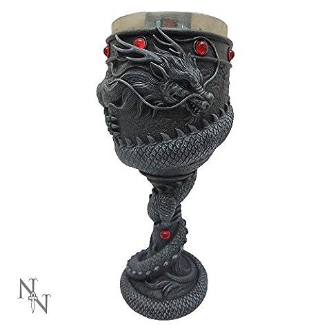 Nemesis Now - Dragon Coil Black Goblet - 20cm