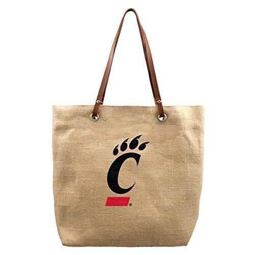 ncaa-cincinnati-bearcats-burlap-market-tote-17-x-45-x-14-inch-natural-by-littlearth