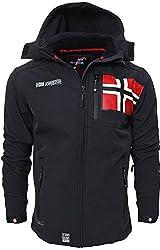 Geographical Norway Herren Softshell Jacke Funktions Outdoor, Schwarz - XL