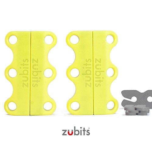 Zubits® - Zubits - Connecteur De Chaussures Magnétique - Jamais Vous Délier Les Cordons D'origine 2.0 (# 3 Performances / Adulte, Brun)