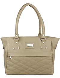 Element Cart PU Material Light Beige Color Hand Bag For Women/Girls