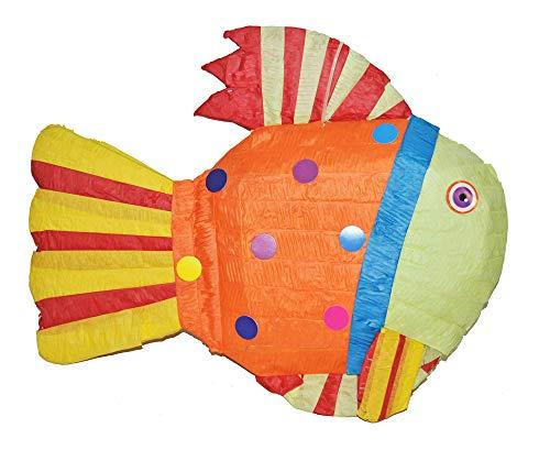 Das Kostümland Pinata - Geburtstags Dekoration - Fisch - Tolles Geschenk für Kindergeburtstag, Hochzeit oder Mottoparty