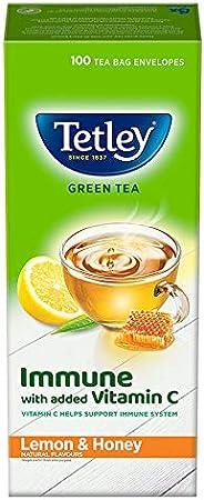 Tetley Green Tea Immune with Added Vitamin C Lemon & Honey 100 Tea