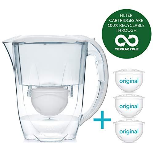Aqua Optima 6-Monate-Packung - Oria Tischwasserfilter mit 3 x 60-Tage-Wasserfilterkartuschen