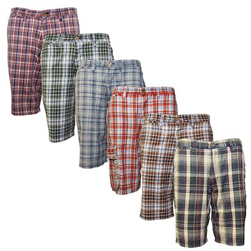 Raging Rooster Men's 100% Cotton Checked Shorts