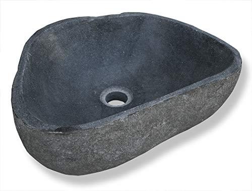 LioLiving Stone Vasque de lavabo en pierre / bloc erratique 35-46 cm (# 400122)