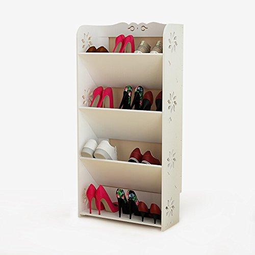 Schuhregal Multi-Layer Montiert Holz Weiß Schuhregal Home Veranda Schlafzimmer Einfache Rack Schuh Lagerregal 40 * 17 * 80 cm