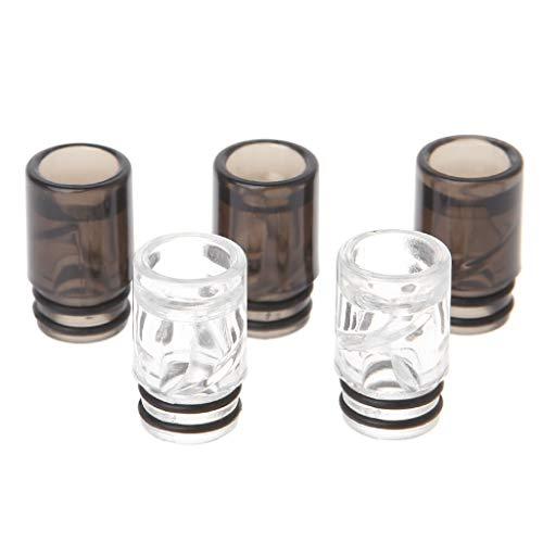 Mundstück für E-Zigaretten, Spiral-Design, 510 Tropfspitze, Kunststoff, 5 Stück 1