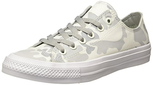 Converse Unisex-Erwachsene Chuck Taylor All Star II Reflective Camo Low-Top, Weiß (White/Mouse/White), 41 EU