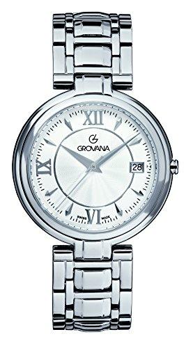 GROVANA - 2097.1132 - Montre Mixte - Quartz Analogique - Bracelet Acier Inoxydable Argent