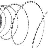 Alambre púas Concertina OTAN Acero galvanizado 300 mBricolaje Accesorios de Bricolaje Cadenas, Alambre y Cuerda