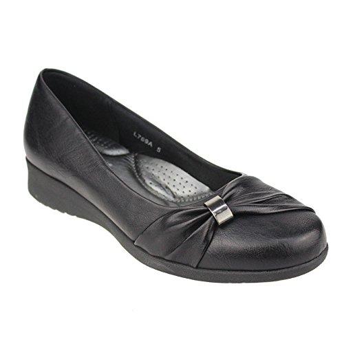 Aarz femmes Mesdames Soirée Confort Chaussures Casual Sandales Parti Taille (noir, brun)