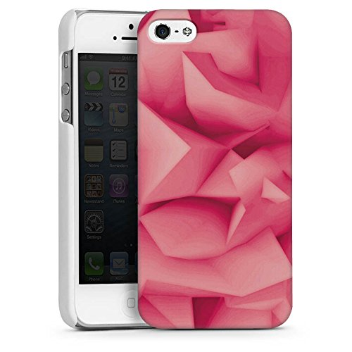Apple iPhone 5s Housse Étui Protection Coque Abstrait Motif Motif CasDur blanc