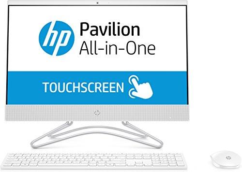 HP 22-c0216ns - All in One - Ordenador de sobremesa 21.5' Táctil FullHD (Celeron J4005, 4GB RAM, 1TB HDD, Intel Graphics, FreeDos), Color Blanco, con Teclado QWERTY Español y Ratón