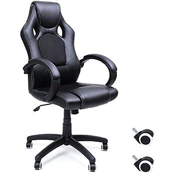amstyle b rostuhl racer gaming chefsessel mit armlehne gepolstert racer sport sitz drehstuhl. Black Bedroom Furniture Sets. Home Design Ideas