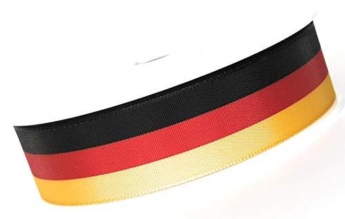 Nationalband Steffen Scheunemann SCHLEIFENBAND 25m x 25mm Ordensband Fanband SCHWARZ ROT Gold Dekoband Deutschland