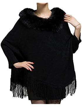 Borla De Impresión De Las Mujeres En Forma De Corazón Chaqueta De Abrigo De Cuello De Piel De Abrigo Chal