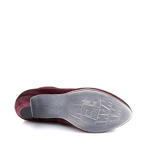 Felmini - Damen Schuhe - Verlieben Kate 9843 - Hochhackige Stiefeletten - Echte Leder - Bordeaux Bordeaux