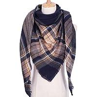 YsTmS Winter Dreieck Schal für Frauen Designer Schal Cashmere Plaid Schals Decke
