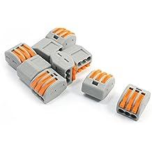 sourcingmap® 10 Pièces 3 Voies 3 Ports Cable Connecte Levier Bloque Terminal AC 250V 32 A