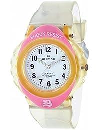 BLUMAR 09247 - Reloj analógico UNISEX de caucho color Rosa y Blanco - Shock  Resist f0838cf117f7