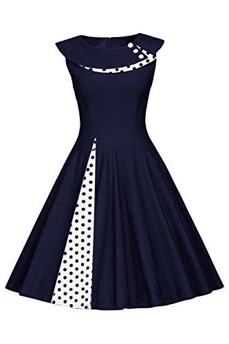 Axoe Damen 50er Jahre Pinup Festliche Abendkleider Rockabilly Audrey Hepburn Vintage Kleid...