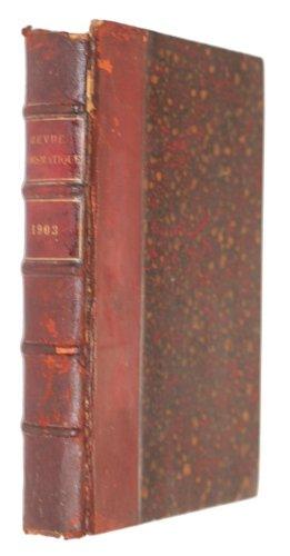 Revue numismatique, 4e série, tome septième