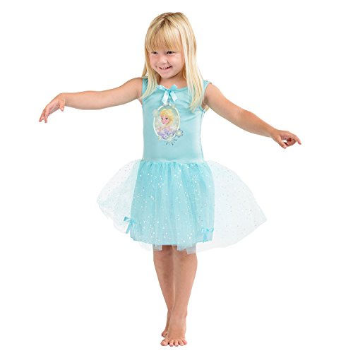 Mädchen offizielle Disney Princess Dressing Up Buntes Kleid Kostüm Kleid - Elsa Dressing Up Kostüm
