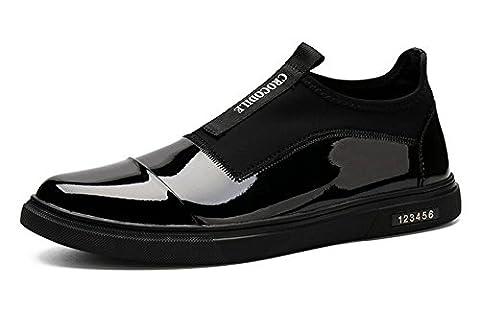 Hommes Chaussures à lacets Chaussures Chaussures de skate Chaussures de sport en cuir Chaussures décontractées Trend Sets Of Foot Shoes ( Color : Black , Size : 43 )