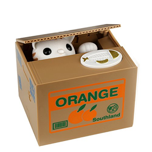 Salvadanaio hmil-u ottimo regalo per bambini natale/regalo di compleanno per i bambini (orange-cat)