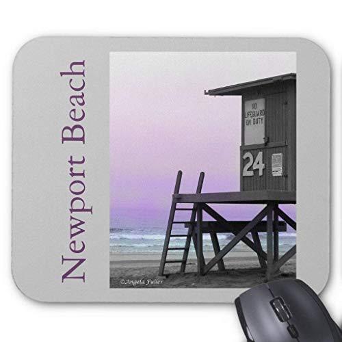 ASKSSD Computer Accessories Anti-Friction Wristband Lifeguard Tower Newport Beach Mousepad