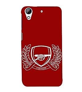EPICCASE Arsenal Mobile Back Case Cover For HTC Desire 728 (Designer Case)