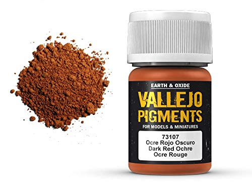 Vallejo Pigments 73107 Dark Red Ochre (35ml) -