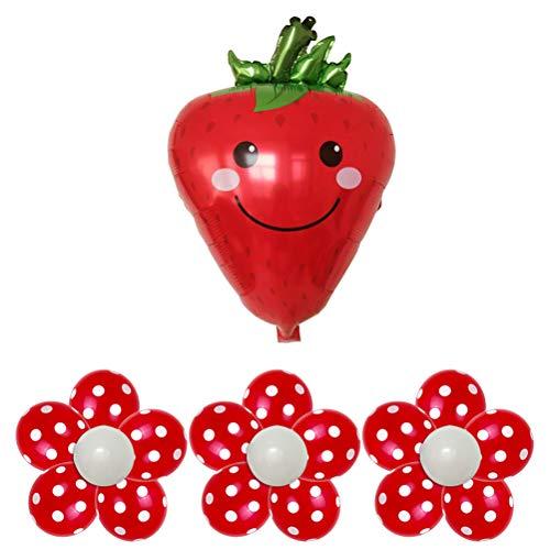 Mylar folienballons tomatenform aluminiumfolienballons mit Plum Flower Clip für Baby Birthday Party wanddekoration ()