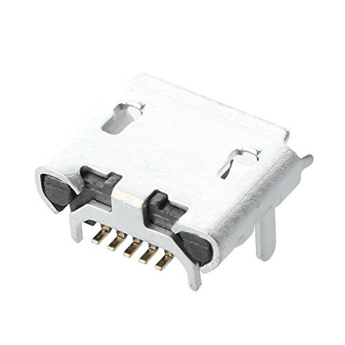 Micro USB enchufe - SODIAL(R)10 pzs Enchufe de Conector de puerto femenino USB Micro de Tipo B celular Conector de carga